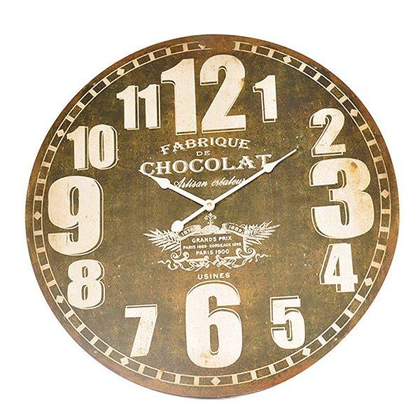 Relógio de Parede Decorativo Fabrique de Chocolate - 58 cm