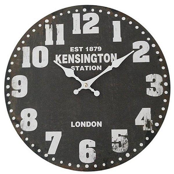 Relógio de Parede Decorativo Kensington Station - 34 cm