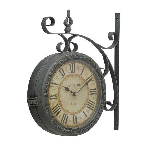 Relógio Decorativo L'Hotel Du - Paris - 37 cm
