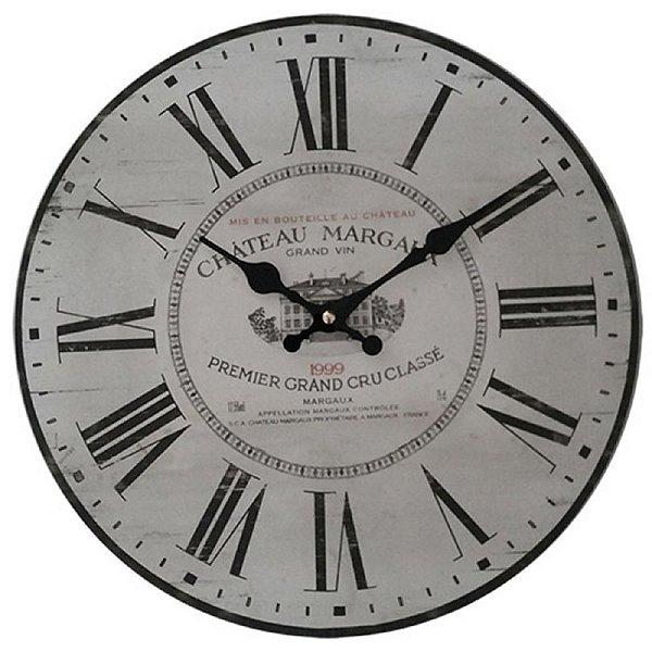 Relógio de Parede Decorativo Château Margaux - 1999 - 34 cm