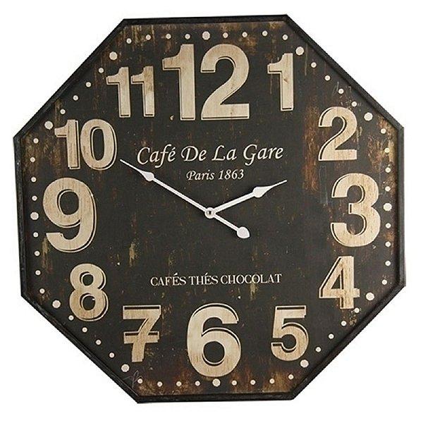 Relógio de Parede Decorativo Café de La Gare - 60 cm
