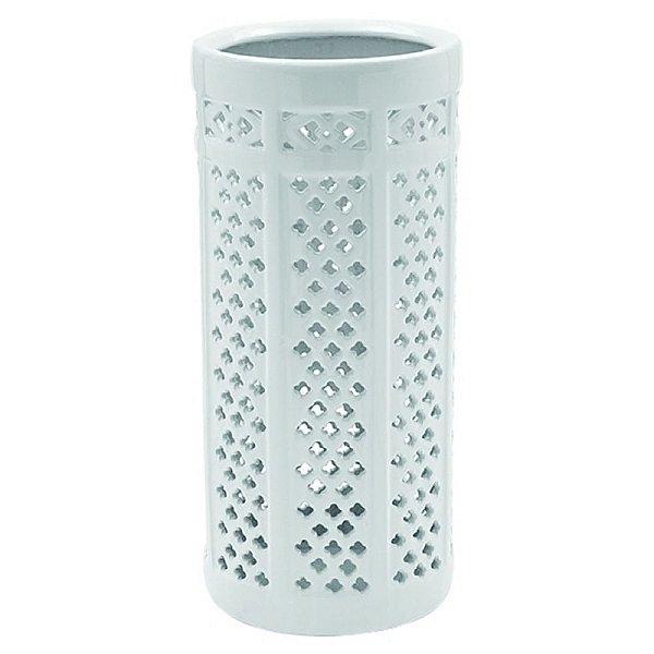 Porta Guarda-Chuva de Cerâmica Branco - 43 cm