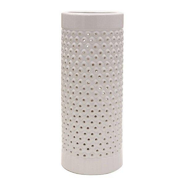 Porta Guarda-Chuva de Cerâmica Branco - 45 cm