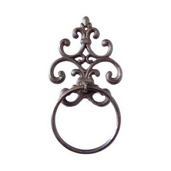 Porta Toalha Decorativo de Metal