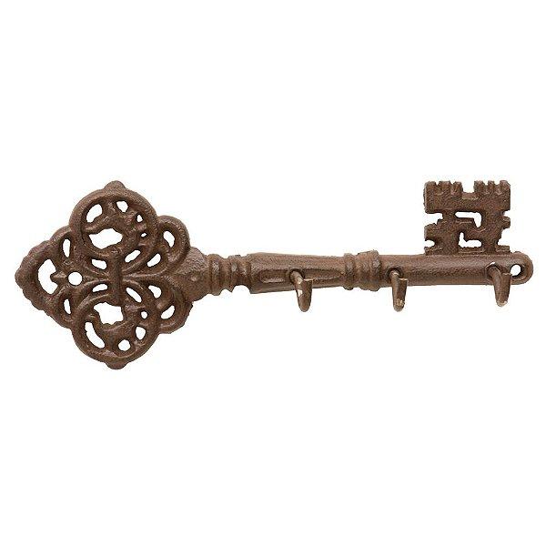 Porta Chaves de Cobre - 3 Ganchos