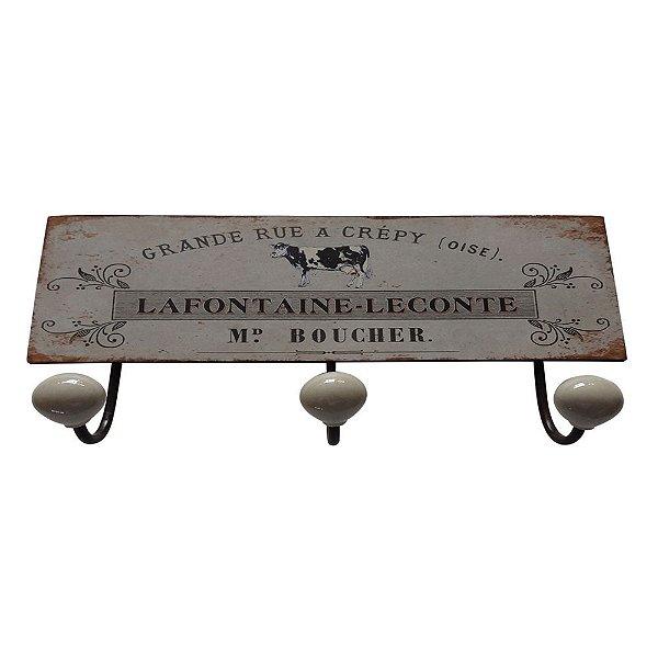 Cabideiro de Ferro La Fontaine-Leconte - 3 Ganchos
