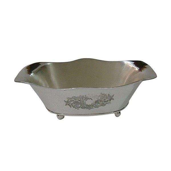Tigela em Metal Prata - 34 cm