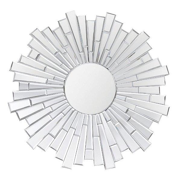 Espelho Decorativo Bisotado Design Sol  - 101 cm