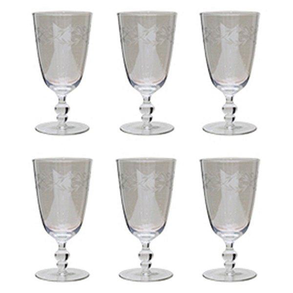 Conjunto de Taças para Vinho Transparentes 16 cm - 6 Peças