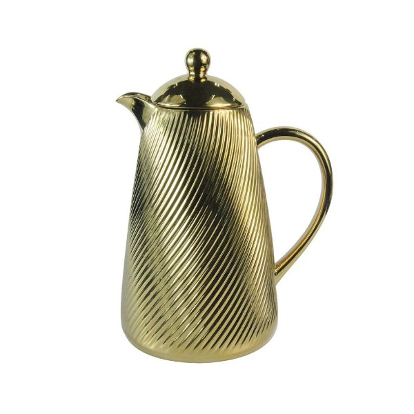 Garrafa Térmica de Porcelana Dourada - 30 cm