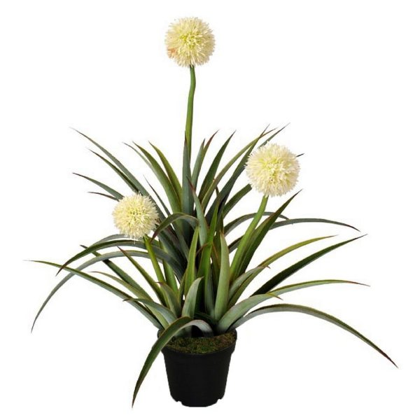 Planta Artificial Decorativa com Flores Brancas - 100 cm
