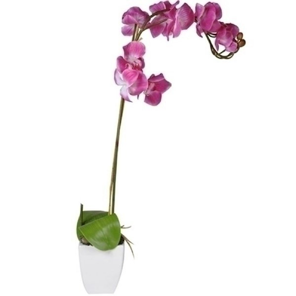 Flor Artificial Decorativa Orquídea Rosa - 35 cm