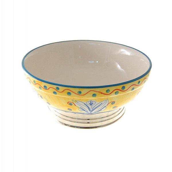 Fruteira Decorativa Cerâmica Colorida - 26 x 11 cm