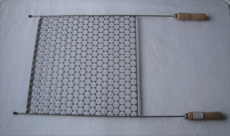 Grelha para Churrasco Moeda em Inox Art & Sabor - 40 x 40 cm