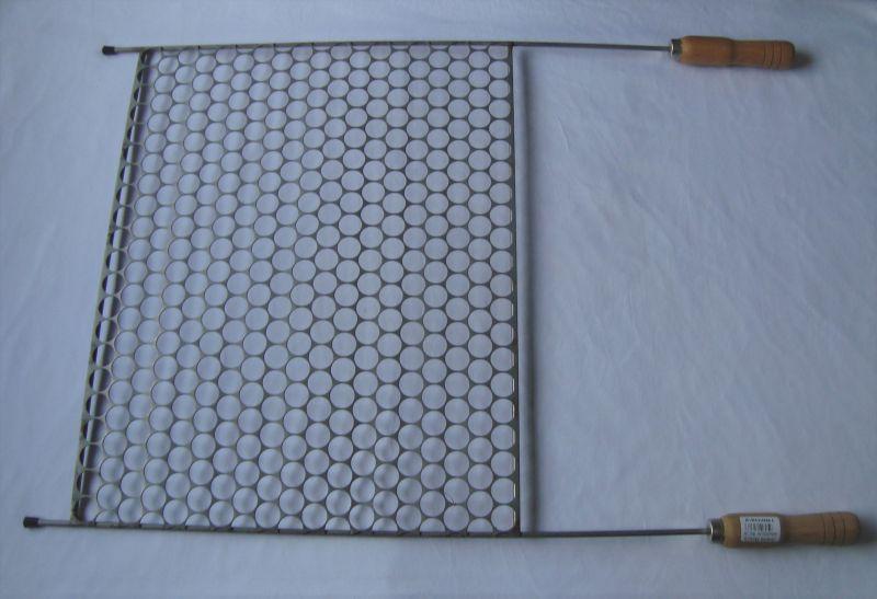 Grelha para Churrasco Moeda em Inox Art & Sabor - 50 x 40 cm