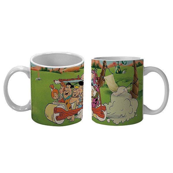 Caneca de Porcelana Hanna Barbera Os Flintstones Passeio em Família - 300 ml