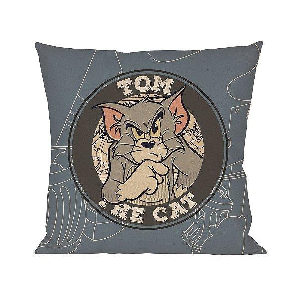 Capa para Almofada em Poliéster Hanna Barbera Tom e Jerry Tom, o Gato - 45 cm