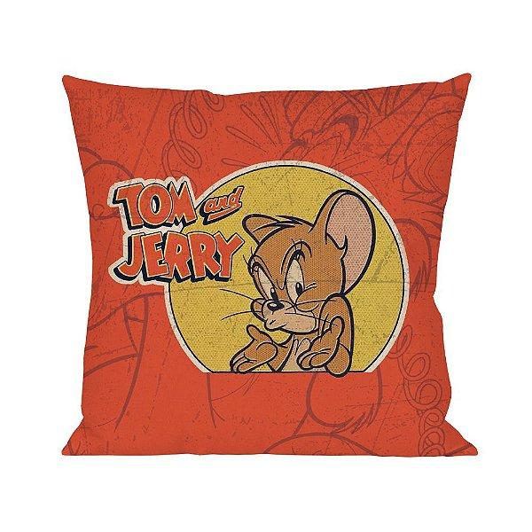 Capa para Almofada em Poliéster Hanna Barbera Tom e Jerry Jerry, o Rato - 45 cm
