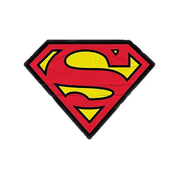 Almofada Decorativa em Poliéster DC Comics Superman Logo - 45 x 33 cm