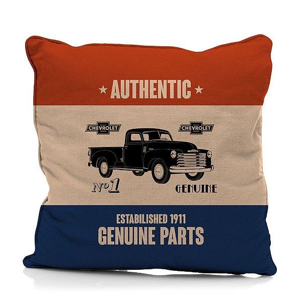 Capa para Almofada em Poliéster GM Vintage Authentic Genuine Parts - 45 cm