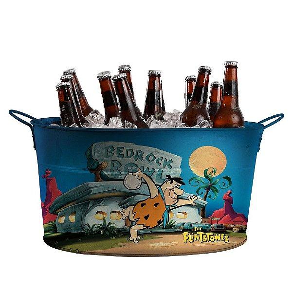Balde de Gelo Oval com Alças Laterais Hanna Barbera Os Flintstones Fred em Bedrock Bowl - 39 cm