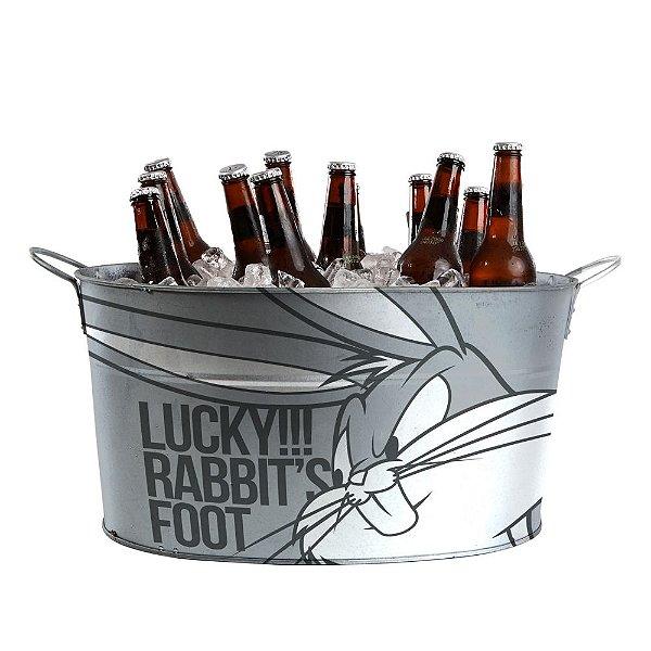 Balde de Gelo Oval com Alças Laterais Looney Tunes Pernalonga Lucky!!! Rabbit's Foot - 39 cm