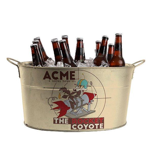Balde de Gelo Oval com Alças Laterais Looney Tunes Coiote ACME - The Rocket Coyote - 39 cm