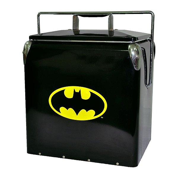 Cooler de Metal com Alça DC Comics Batman Logo Amarelo / Preto