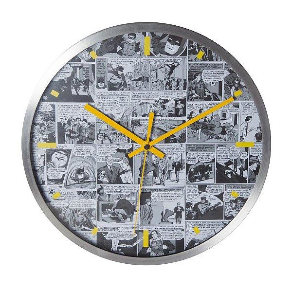 Relógio de Parede Decorativo de Metal DC Comics Quadrinhos Amarelo / Branco / Preto - 30 cm