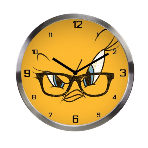 Relógio de Parede Decorativo de Metal Looney Tunes Piu-Piu - 30 cm