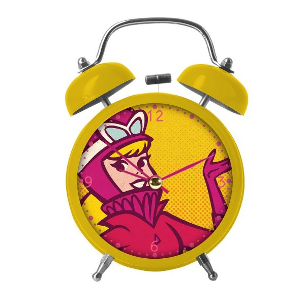 Relógio Decorativo Despertador de Metal Hanna Barbera Corrida Maluca Penélope Charmosa - 17 cm