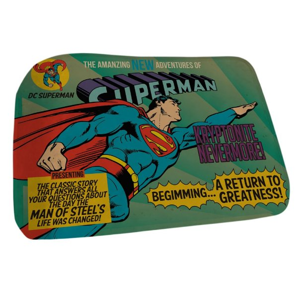 Tapete Decorativo de Poliéster DC Comics Superman - 45 x 70 cm