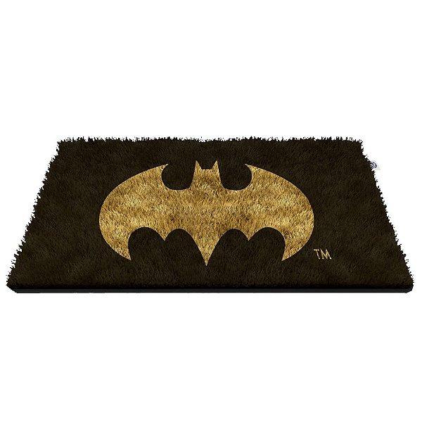 Capacho Decorativo de Fibra de Coco DC Comics Batman Logo - 45 x 75 cm
