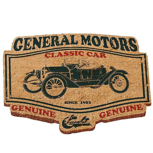 Capacho Decorativo de Fibra de Coco GM Vintage Classic Car Jalopy - 48 x 70 cm