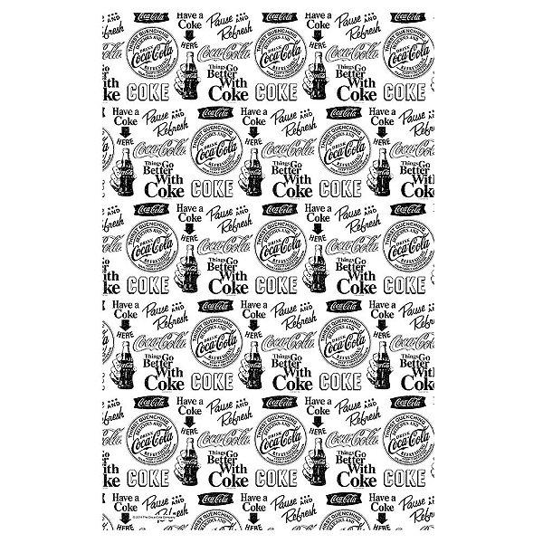 Pano de Prato de Algodão Coca-Cola All Logos Black and White - 70 x 45 cm
