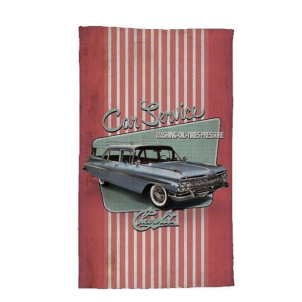 Pano de Prato de Algodão GM Vintage Car Service Fish Tail - 70 x 45 cm