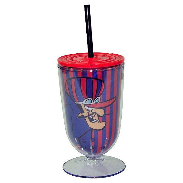 Copo / Taça de Acrílico com Canudo Hanna Barbera Corrida Maluca Dick Vigarista - 550 ml