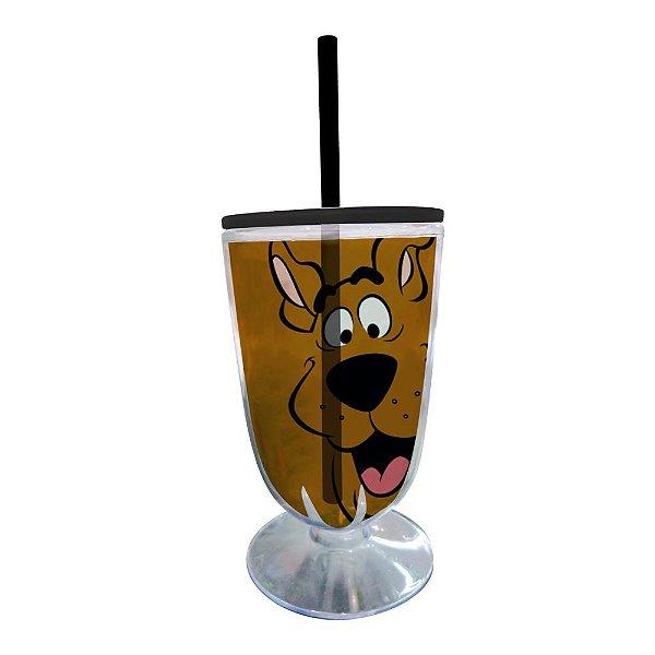 Copo / Taça de Acrílico com Canudo Hanna Barbera Scooby-Doo - 550 ml