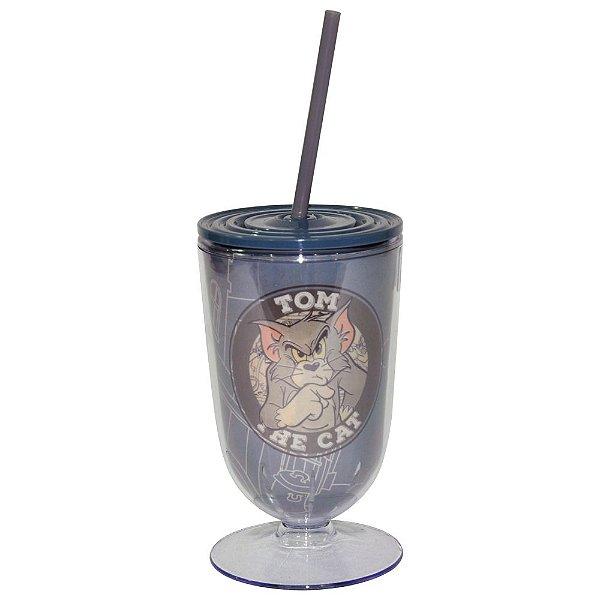 Copo / Taça de Acrílico com Canudo Hanna Barbera Tom and Jerry Mad Cat - 550 ml