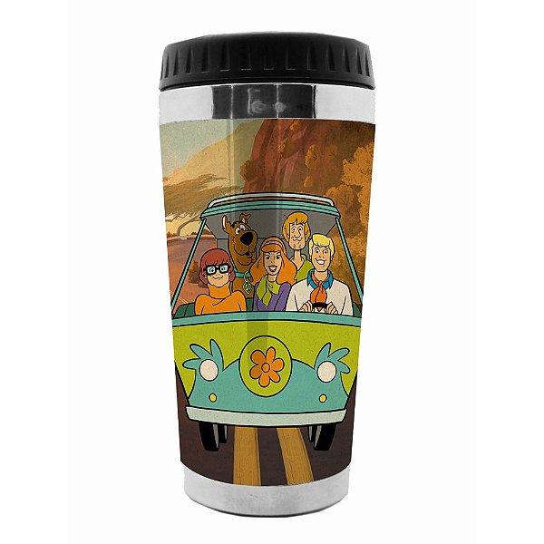 Copo Térmico de Plástico Hanna Barbera Scooby-Doo Everybody in the Mystery Machine - 470 ml