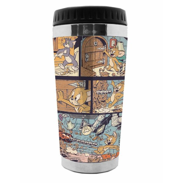 Copo Térmico de Plástico Hanna Barbera Tom and Jerry Comics - 470 ml