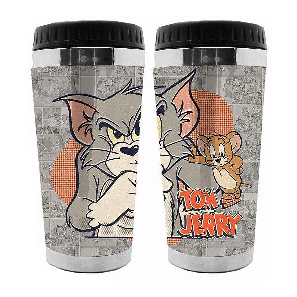 Copo Térmico de Plástico Hanna Barbera Tom and Jerry - 470 ml