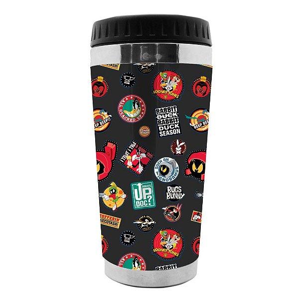 Copo Térmico de Plástico Looney Tunes Buttons - 470 ml