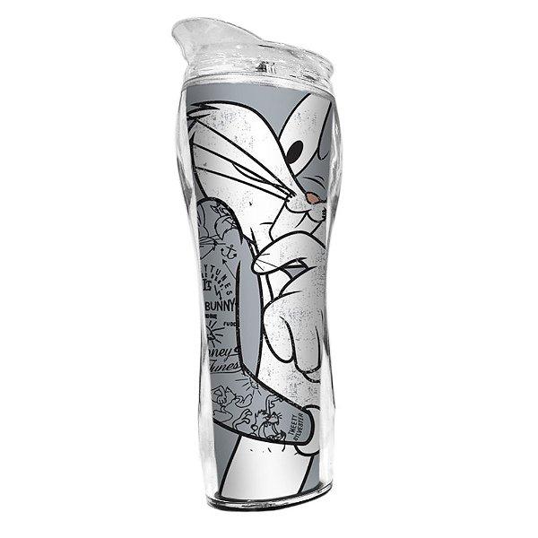 Copo Térmico de Plástico Silhouette Looney Tunes Pernalonga - 400 ml
