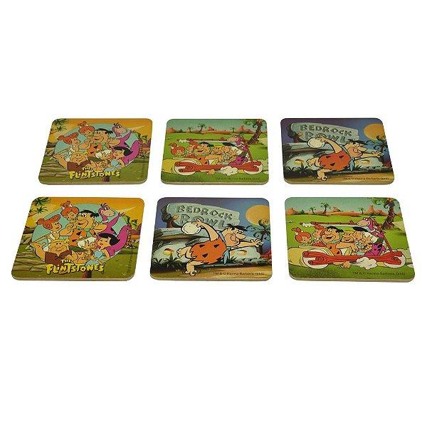 Conjunto de Porta Copos Hanna Barbera Os Flintstones - 6 Peças