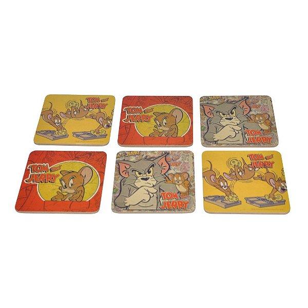 Conjunto de Porta Copos Hanna Barbera Tom e Jerry - 6 Peças