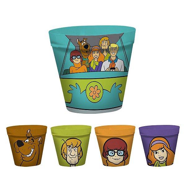 Conjunto de Potes para Pipoca Hanna Barbera Scooby-Doo e sua Turma - 5 Peças