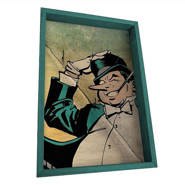 Porta Chaves de Madeira DC Comics Pinguim - 6 Ganchos