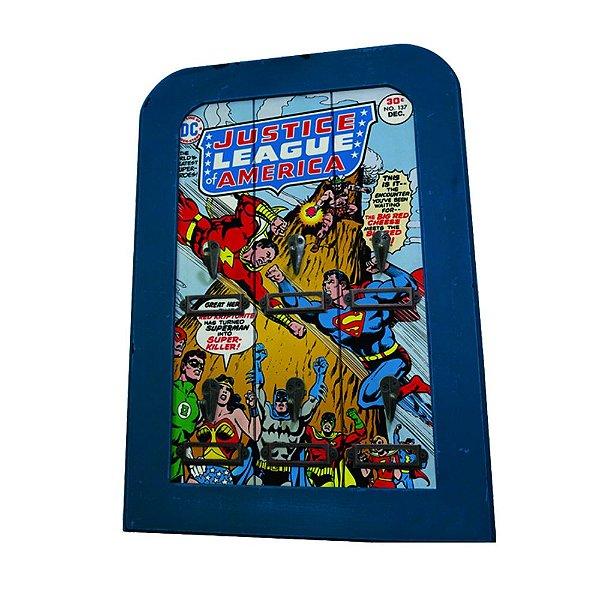 Porta Chaves de Madeira DC Comics Liga da Justiça - 6 Ganchos