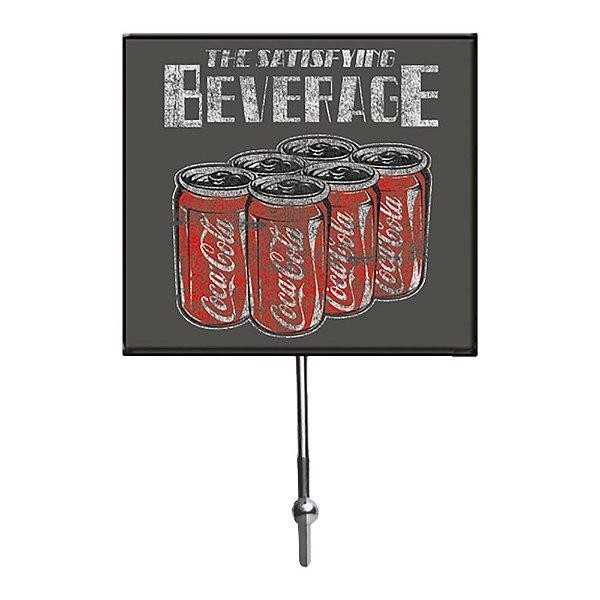 Cabideiro de Vidro e Metal Coca-Cola Coke Six Pack The Satisfying Beverage - 1 Gancho